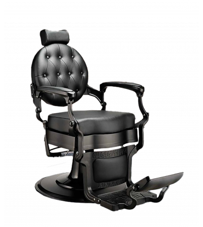 Black barber armchair design