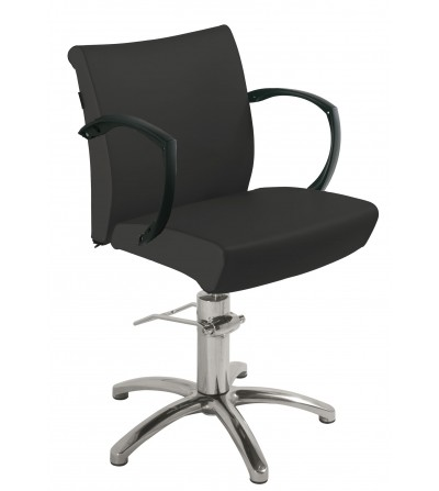 High quality pivoting hair salon styling chair with hydraulic jack