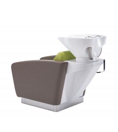 Washing unit with optional electric footrest and air massage